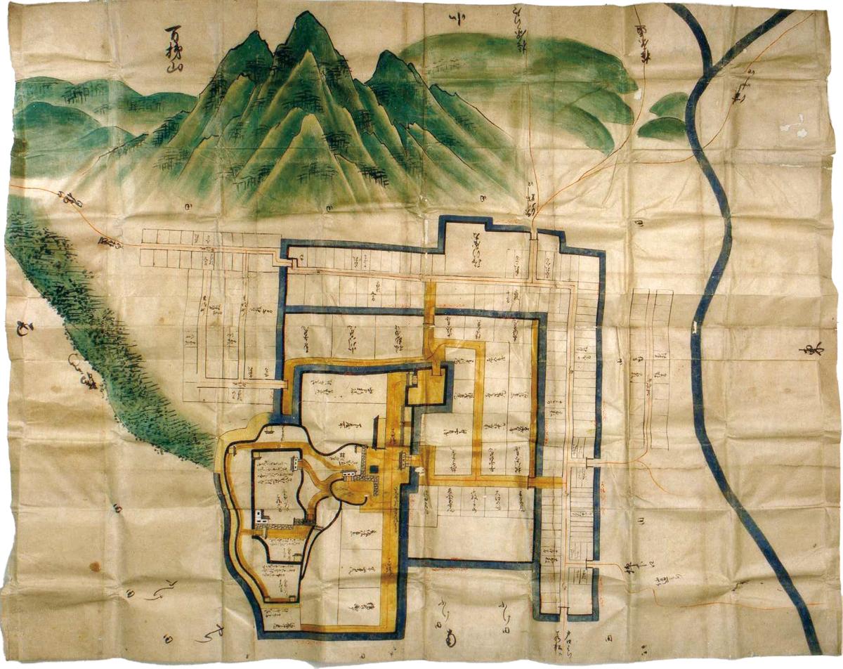 亀ヶ城と磐梯山