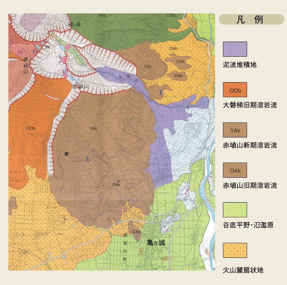火山土地条件図「磐梯山」より