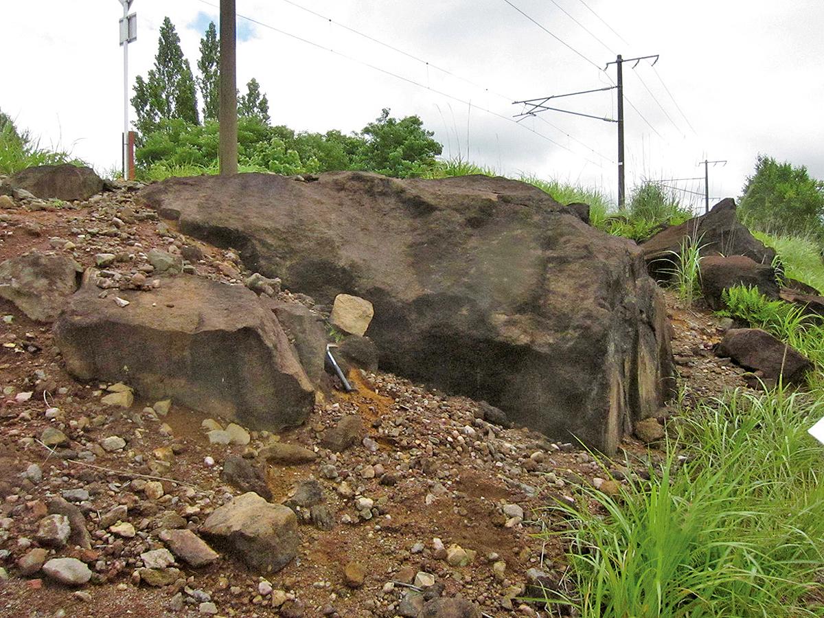 岩なだれ露頭