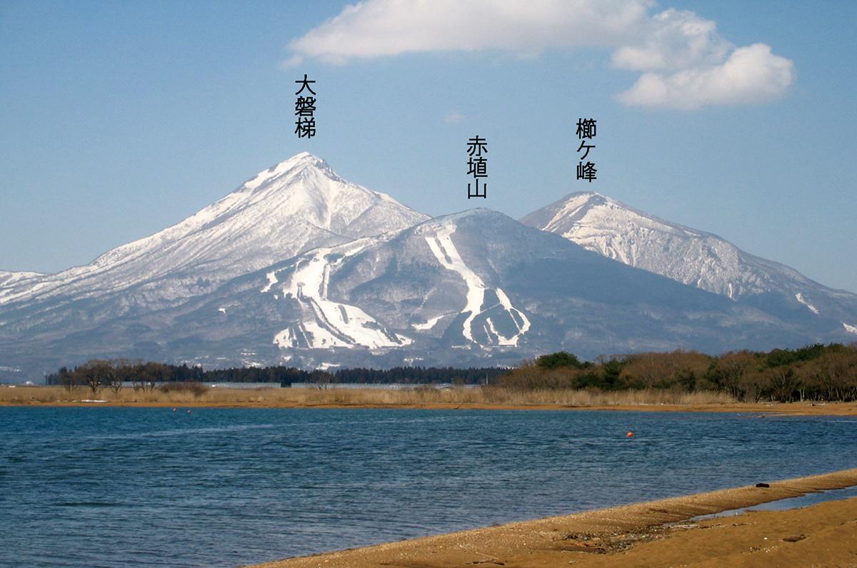 磐梯山遠望