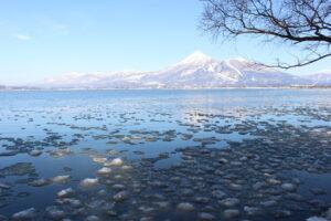 磐梯山と団子氷